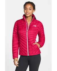 The North Face | Pink 'Thermoball' Primaloft Jacket | Lyst