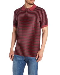 Paul Smith | Red Regular Fit Striped Polo Shirt for Men | Lyst