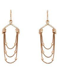 Stephen Webster | Metallic Draped Diamond Earrings | Lyst