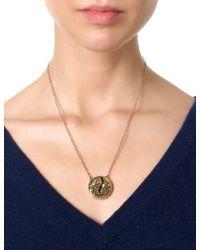Pamela Love | Metallic Gold Lapis Titan Medallion | Lyst