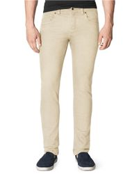 Calvin Klein Jeans | Natural Twill Slub Slim Straight Leg Pants for Men | Lyst