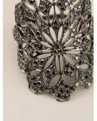 Gaydamak - Metallic Flower Embellished Ring - Lyst