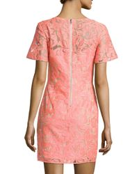Veronica Beard - Multicolor Floral Embroidered Lace Shift Dress - Lyst