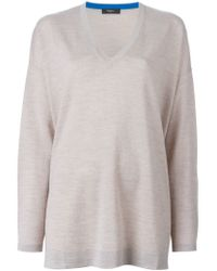 Paul Smith Black Label - Natural Loose Fit V-neck Sweater - Lyst