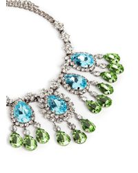 Kenneth Jay Lane | Multicolor Crystal Teardrop Station Necklace | Lyst