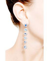 Dana Rebecca | Blue One Of A Kind Moonstone Drop Earrings in 14k White Gold | Lyst