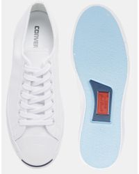 Converse | White All Star Jack Purcell Leather Plimsolls for Men | Lyst