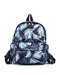 MZ Wallace | Blue Jeni Frost-print Nylon Backpack | Lyst