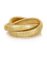 Sidney Garber - Metallic Rolling 18-Karat Gold Interlinked Bracelet - Lyst