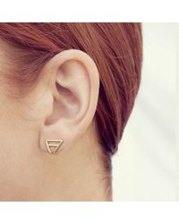 Coops London | Metallic Triangle Squeeze On Earring | Lyst