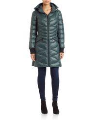 Bernardo | Blue Hooded Puffer Coat | Lyst