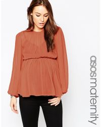 ASOS | Orange Tiered Folk Blouse | Lyst