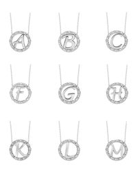 KC Designs - Metallic 14k White Gold Diamond Initial Necklace - Lyst