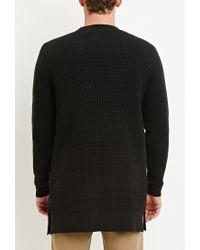 Forever 21 | Black Waffle Knit Cardigan for Men | Lyst