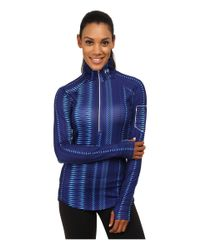 Under Armour - Blue Ua Fly Fast Printed 1/2 Zip - Lyst