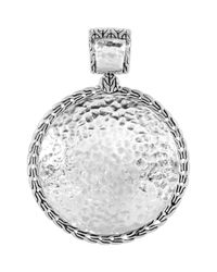John Hardy | Metallic Palu Silver Medium Round Enhancer | Lyst