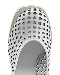 Jil Sander - Perforated Leather Platform Pumps - White - Lyst