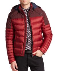 Burberry | Red Farrier Puffer Jacket for Men | Lyst