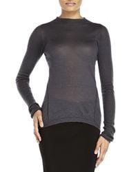 Rick Owens - Blue Cashmere Sweater - Lyst
