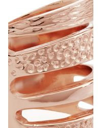 Pamela Love - Pink Single Cage Rose Gold-Plated Ring - Lyst
