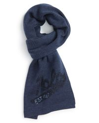 Polo Ralph Lauren - Blue Merino Wool Scarf for Men - Lyst