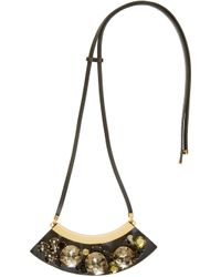 Marni   Black And Green Strass Necklace   Lyst