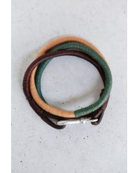 Urban Outfitters | Green Three Shades Wrap Bracelet for Men | Lyst