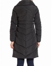 Jessica Simpson | Black Zip-front Puffer Coat | Lyst