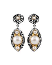 Konstantino - White Mabe Pearl Drop Earrings - Lyst