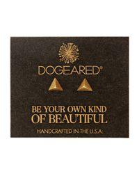 Dogeared | Metallic Dare To Pyramid Spike Stud Earrings | Lyst