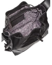 Botkier - Black Drawstring Leather Bucket Bag - Lyst