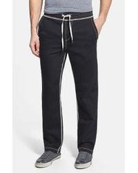 True Religion - Black 'big T' Wide Leg Sweatpants for Men - Lyst
