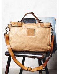 Free People - Natural Sylvana Leather Messenger - Lyst