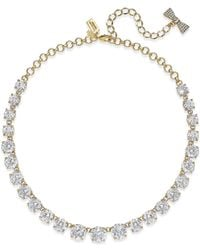 kate spade new york - Metallic 12k Gold-plated Crystal Necklace - Lyst