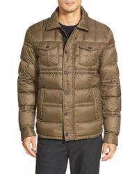 Michael Kors - Green Down Shirt Jacket for Men - Lyst