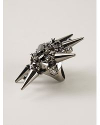 Philipp Plein | Metallic Spiked Cocktail Ring | Lyst