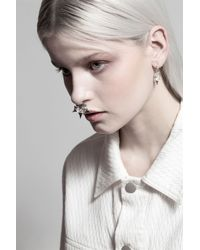 Lucky Little Blighters | Metallic Thorn Hoops Earrings | Lyst