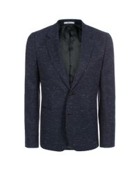 Paul Smith - Blue Men's Navy Wool-blend Slub Blazer for Men - Lyst