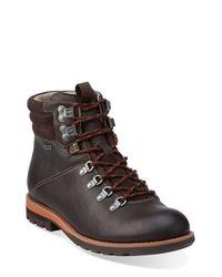 Clarks - Brown 'padley Alp' Plain Toe Boot for Men - Lyst