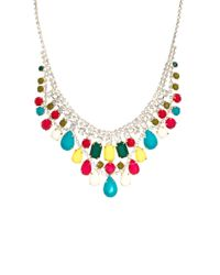 ASOS | Multicolor Limited Edition Multi Stone Bib Necklace | Lyst