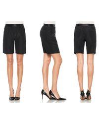 Joe's Jeans | Black Trouser Short | Lyst