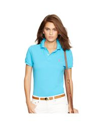 Polo Ralph Lauren - Blue Skinny-fit Polo Shirt - Lyst