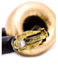 Monies | Black Door Knocker Clip-on Earrings | Lyst
