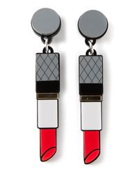 Yazbukey | Gray Lipstick Earrings | Lyst