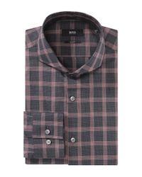 BOSS Red Slim Fit Business Shirt 'dwayne' With Shark Collar for men
