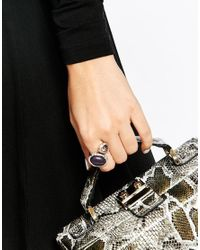 Oasis - Purple Large Stone Ring - Lyst