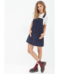Forever 21 | Blue Overall Dress | Lyst