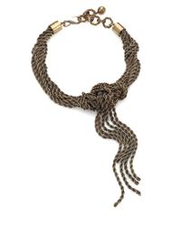 Lanvin | Metallic Knotted Chain Tassel Necklace | Lyst