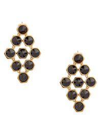 Rachel Zoe | Black Cleo 12K Gold And Stone Pyramid Earrings | Lyst