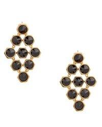 Rachel Zoe - Black Cleo 12K Gold And Stone Pyramid Earrings - Lyst